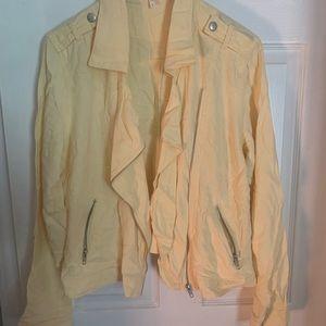 Size large lemon yellow moto jacket